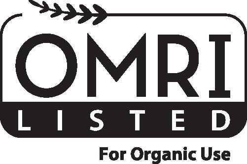 Este producto cuenta con la certificación OMRI