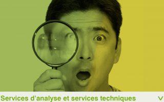 Services d'analyse et services techniques